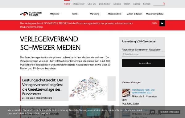 Vorschau von www.schweizermedien.ch, Verband Schweizer Presse