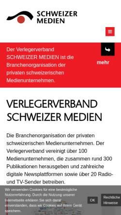 Vorschau der mobilen Webseite www.schweizermedien.ch, Verband Schweizer Presse