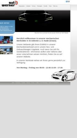 Vorschau der mobilen Webseite www.autowerner.com, Auto Werner des Werner Malloth