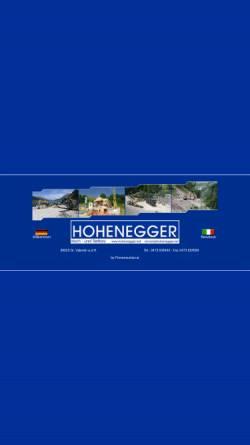 Vorschau der mobilen Webseite www.hohenegger.net, Hohenegger