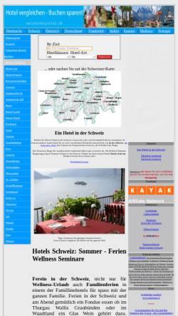 Vorschau der mobilen Webseite www.swisshotelportal.ch, swisshotelportal