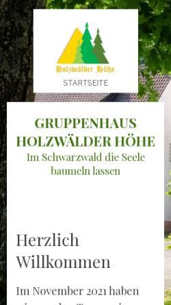 Vorschau der mobilen Webseite www.gruppenhotel-schwarzwald.de, Gruppenhotel Schwarzwald