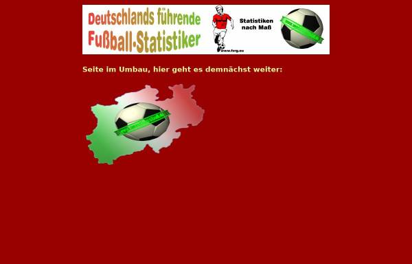 Vorschau von www.fussballvereinsregister.de, Vom Fußball zur Fußballstatistik