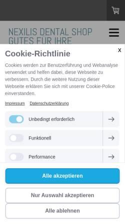 Vorschau der mobilen Webseite www.nexilis-marketing.de, Nexilis Verlag GmbH