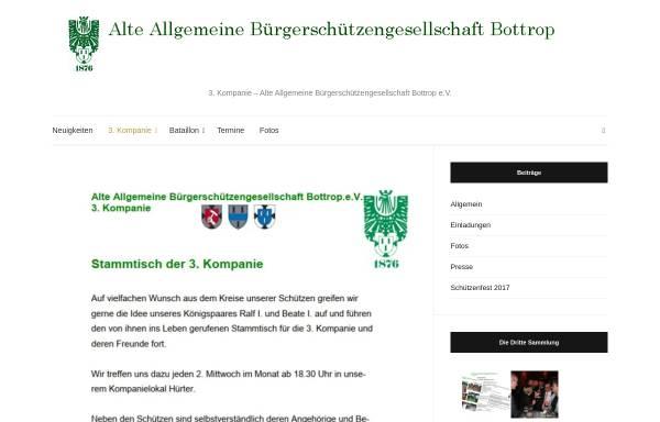 Vorschau von www.die-dritte-kompanie.de, Alte Allgemeine Bürgerschützengesellschaft Bottrop e.V. (3. Kompanie)