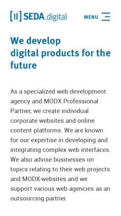 Vorschau der mobilen Webseite chsmedien.de, Seel-Media, Christian Seel
