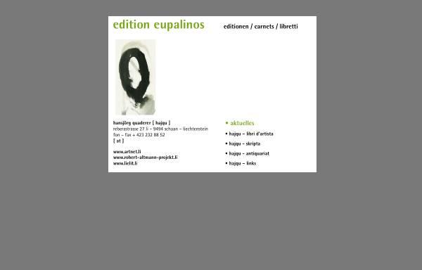 Vorschau von www.eupalinos.li, Edition Eupalinos - Hansjörg Quaderer