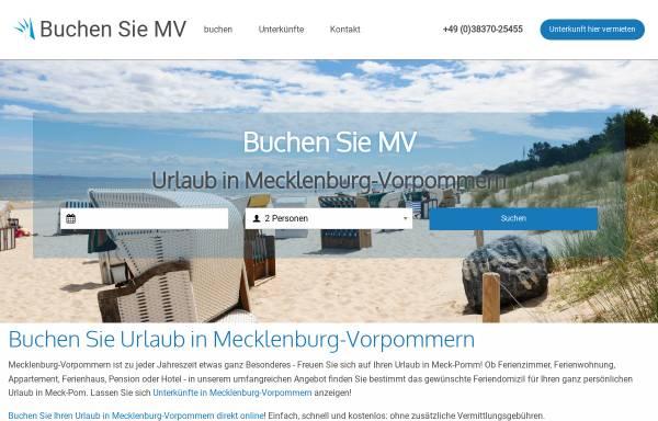 Vorschau von www.buchen-sie-mv.de, Buchen Sie MV