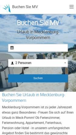 Vorschau der mobilen Webseite www.buchen-sie-mv.de, Buchen Sie MV