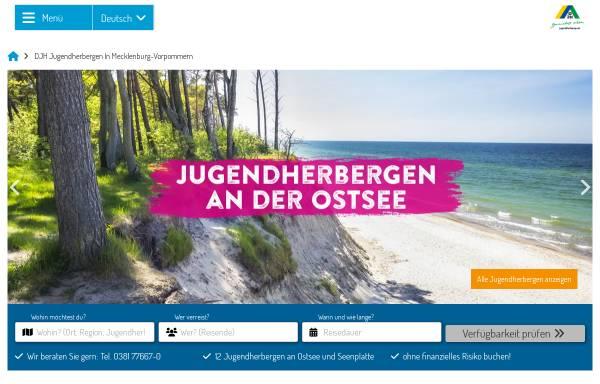 Vorschau von www.jugendherbergen-mv.de, Deutsches Jugendherbergswerk Landesverband Mecklenburg-Vorpommern