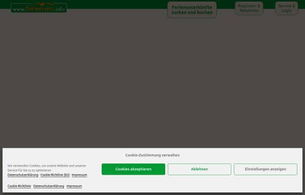 Vorschau von www.ferien-mv.info, Ferienhausvermietung Mecklenburg-Vorpommern, Inhaber Holger Richter