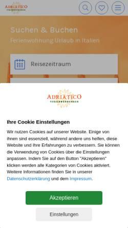 Vorschau der mobilen Webseite www.hotelvermittlung-adriatico.de, Hotelvermittlung Adriatico