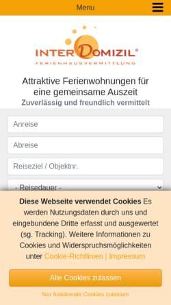 Vorschau der mobilen Webseite www.interdomizil.de, InterDomizil GmbH