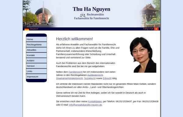 Vorschau von www.anwaltskanzlei-nguyen.de, Nguyen, Thu Ha, Rechtsanwaltskanzlei