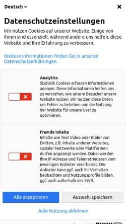 Vorschau der mobilen Webseite www.handelskammer.dk, Deutsch-Dänische Handelskammer