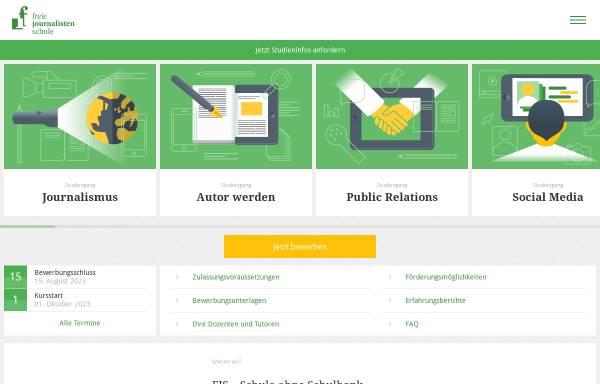 Vorschau von www.freie-journalistenschule.de, Deutscher Fachjournalisten-Kongress