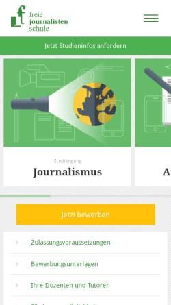 Vorschau der mobilen Webseite www.freie-journalistenschule.de, Deutscher Fachjournalisten-Kongress