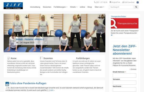 Vorschau von www.ziff.de, ZiFF - Zentrum für integrative Förderung und Fortbildung