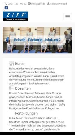 Vorschau der mobilen Webseite www.ziff.de, ZiFF - Zentrum für integrative Förderung und Fortbildung
