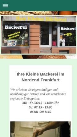 Vorschau der mobilen Webseite www.ihre-kleine-baeckerei.de, Ihre kleine Bäckerei