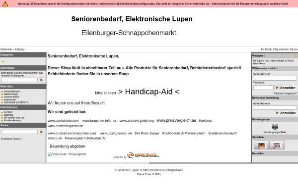 Vorschau von www.eilenburger-schnaeppchenmarkt.de, Eilenburger-Schnäppchenmarkt, Andrea und Reiner Schöne