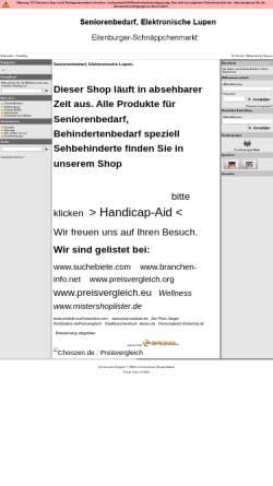 Vorschau der mobilen Webseite www.eilenburger-schnaeppchenmarkt.de, Eilenburger-Schnäppchenmarkt, Andrea und Reiner Schöne