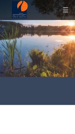 Vorschau der mobilen Webseite www.haus-am-spreebogen.de, Hotel & Restaurant