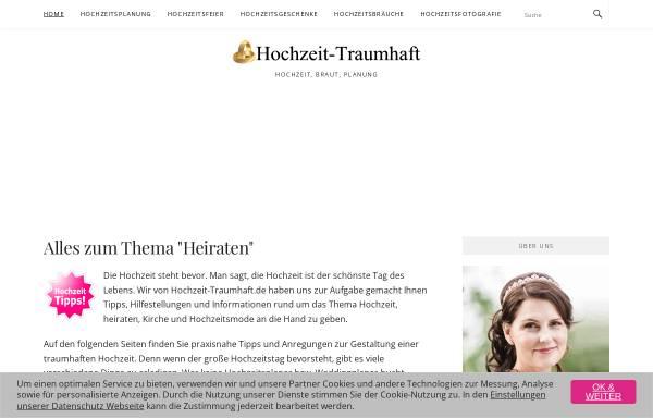 Vorschau von www.hochzeit-traumhaft.de, Hochzeit-Traumhaft.de