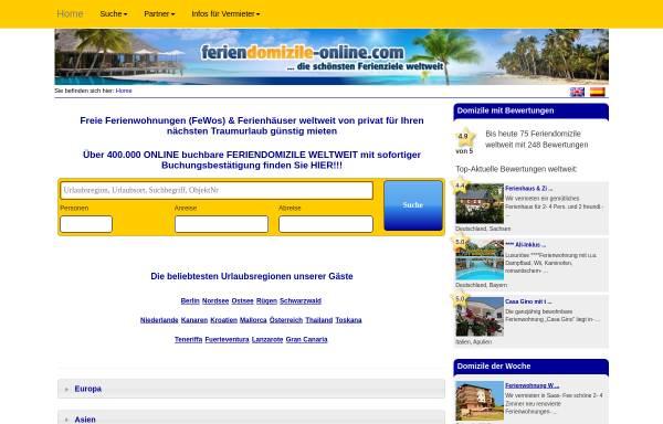 Vorschau von www.feriendomizile-online.com, Ferien Domizile Online