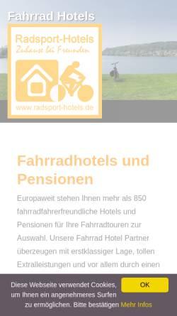 Vorschau der mobilen Webseite www.radsport-hotels.de, Radsport-Hotels.de
