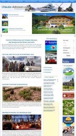 Vorschau der mobilen Webseite www.urlaubs-adressen.com, Urlaubs-Adressen.com