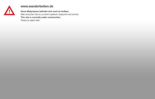 Vorschau von www.wanderbetten.de, Wanderbetten