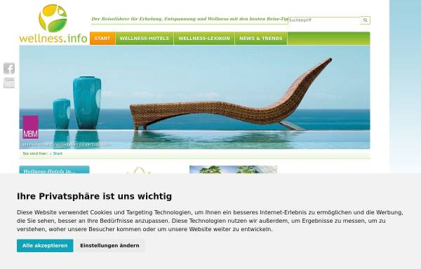 Vorschau von www.wellness.info, Wellness.info
