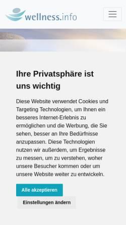 Vorschau der mobilen Webseite www.wellness.info, Wellness.info