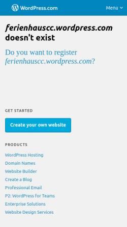 Vorschau der mobilen Webseite www.ferienhauscc.com, Blue Sky Property Management