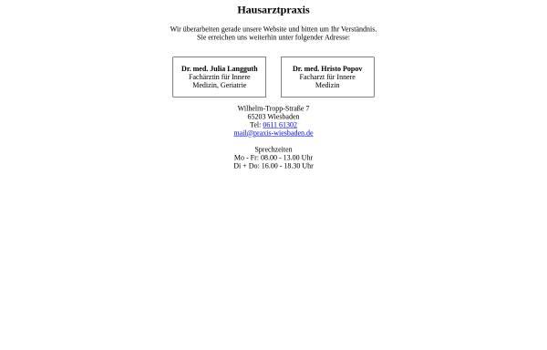 Vorschau von www.praxis-wiesbaden.de, Gesundheitsinformationen