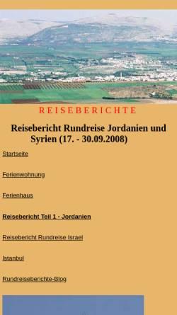 Vorschau der mobilen Webseite www.fewo-haarhausen.de, Reisebericht Rundreise Syrien 2008
