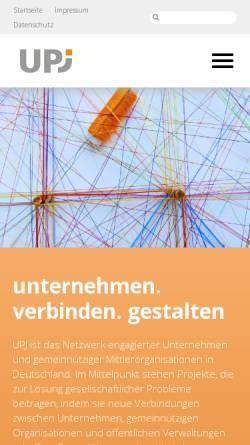 """Vorschau der mobilen Webseite www.diskutiere.de, Diskutiere, Gesellschaftliche Verantwortung - Bundesinitiative """"Unternehmen: Partner der Jugend"""" (UPJ) e.V."""
