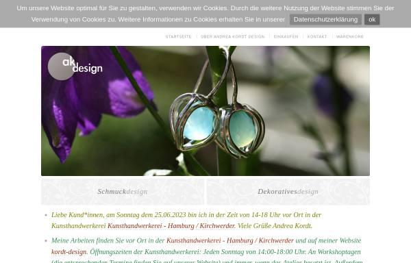 Vorschau von www.kordt-schmuckdesign.de, Andrea Kordt Schmuckdesign