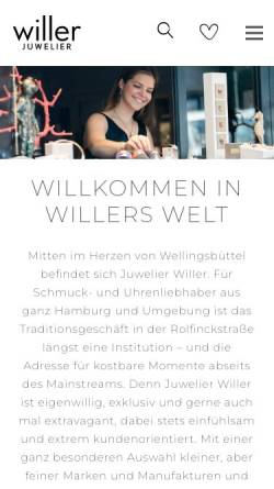 Vorschau der mobilen Webseite www.willer.de, Juwelier Willer GmbH