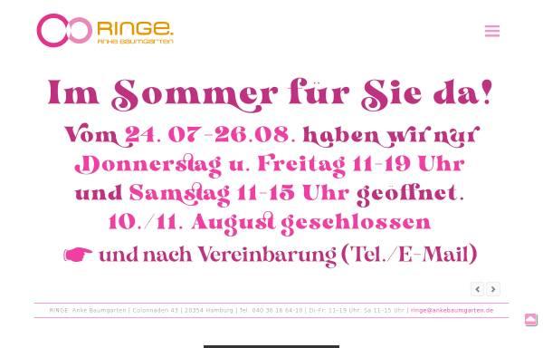Vorschau von www.ringe-ankebaumgarten.de, Ringe, Anke Baumgarten
