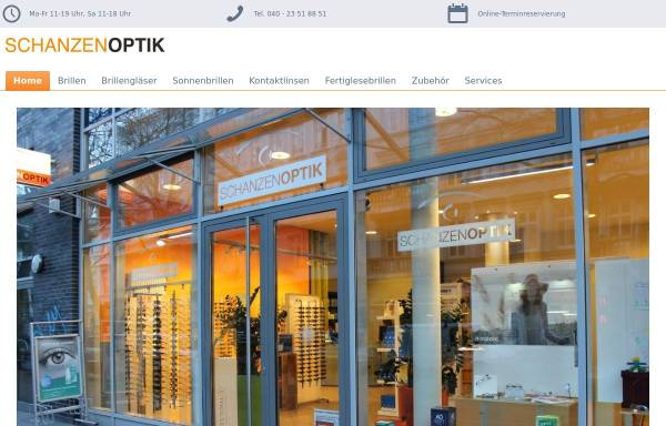 Vorschau von www.schanzenoptik.de, Schanzenoptik GbR