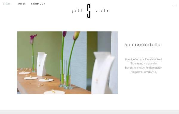 Vorschau von www.schmuckatelier-stuhr.de, Schmuckatelier Gabriele Stuhr