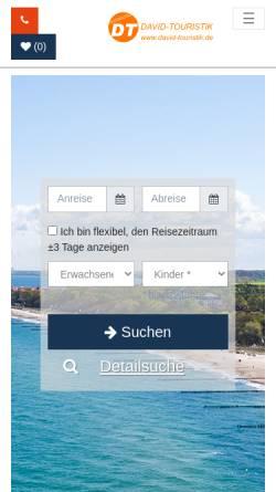 Vorschau der mobilen Webseite www.david-touristik.de, David-Touristik