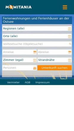 Vorschau der mobilen Webseite www.ferienwohnungostsee.net, FerienwohnungOstsee.NET, Inh. Wendt & Molitor GbR