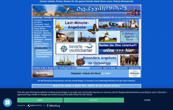 Vorschau von www.ost-see-urlaub.de, Ost-See-Urlaub, Sternal Info-Tec GmbH