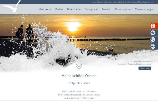Vorschau von www.treffpunkt-ostsee.de, Treffpunkt Ostsee