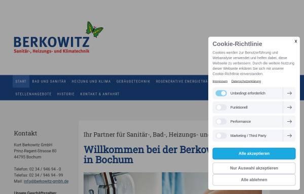 Vorschau von www.berkowitz-gmbh.de, Berkowitz GmbH - Sanitär-, Heizung- und Klimatechnik