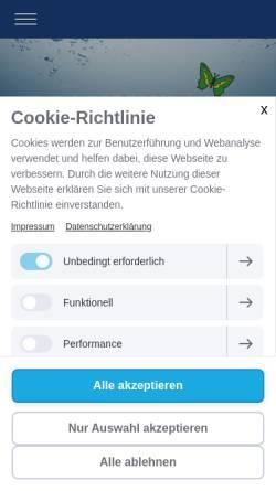 Vorschau der mobilen Webseite www.berkowitz-gmbh.de, Berkowitz GmbH - Sanitär-, Heizung- und Klimatechnik