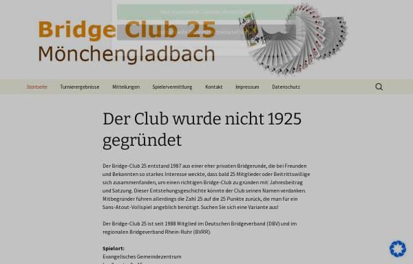 Vorschau von www.bc25.de, Bridge-Club 25